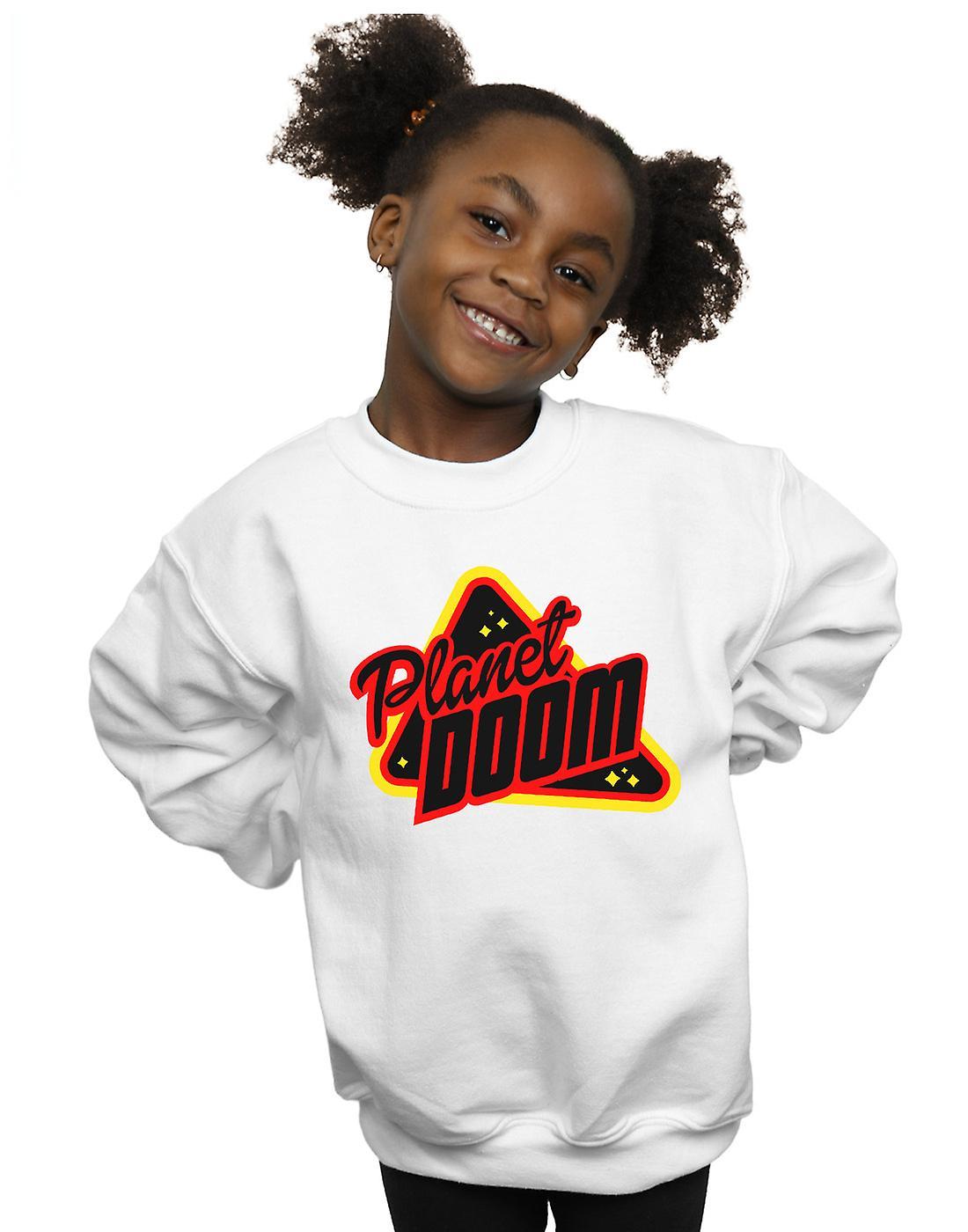 Ready Player One Girls Planet Doom Logo Sweatshirt