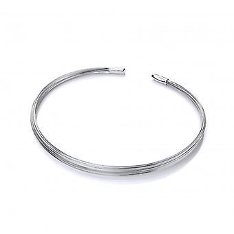 Cavendish französische Silber Stränge Halsband Halskette