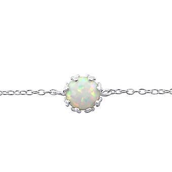 Yuvarlak - 925 Gümüş Zincir Bilezik - W31552x
