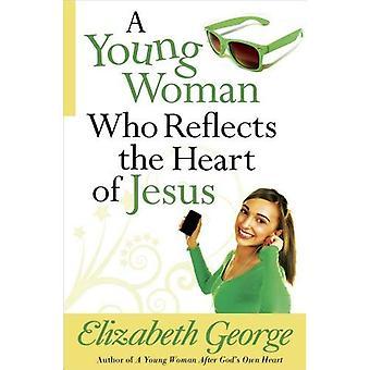 Een jonge vrouw die het hart van Jezus weerspiegelt
