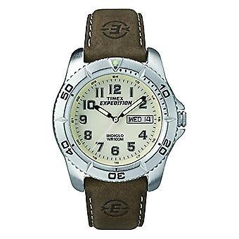 Timex T46681SU armbåndsur for menn, Lær, brun