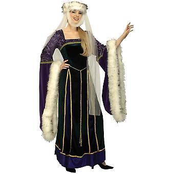 中世の女王大人用コスプレ衣装