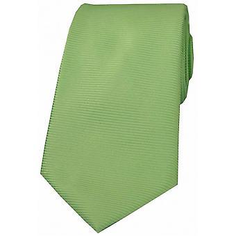 David Van Hagen Horizontal Ribbed Polyester Tie - Lime Green