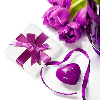 925 Sterling zilveren Love hart hanger ketting en Stud Earring Set