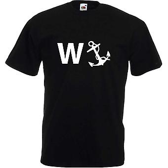 Svart Wanker ankare Tshirt