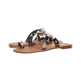 Seszele damskie znacznie potrzebne przerwa skórzany Open Toe dorywczo slajdów sandały