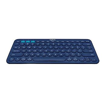 Logitech K380 multi-Device teclado Bluetooth para Windows, Mac, Chrome, Android, iOS e Apple TV-QWERTY, Reino Unido layout, azul