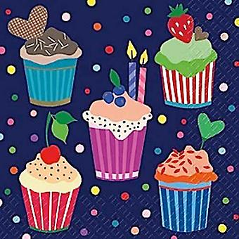 Stovo 3 lagen papieren servetten, Cup cakes Design (Benita)