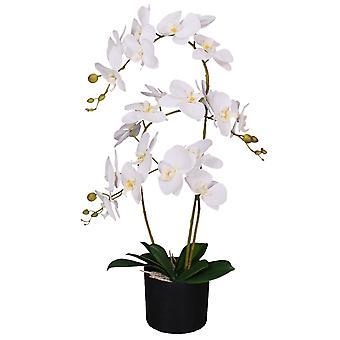 65cm luxe artificielle artificielle orchidée plante blanche douce - 3 tiges -