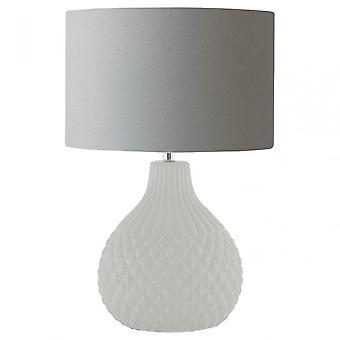 Premier hem Jax bordslampa, keramik, linne, grå