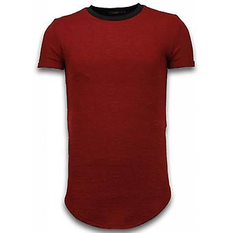 3D Encrypted T-shirt - Long Fit -Shirt Zipped - Red