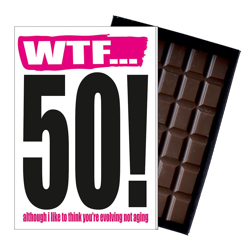 Funny 50th Birthday Gift Rude Naughty Present for Him or Her 85g Chocolate Card IYF116