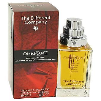 Oriental lounge eau de parfum spray refillable by the different company   498582 90 ml