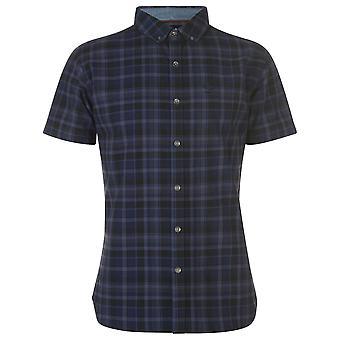 Firetrap Mens Short Sleeve Check Casual Shirt Everyday