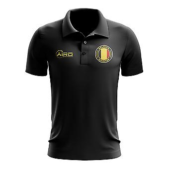 Belgien fotboll pikétröja (svart)