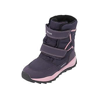 Geox JR ORIZONT jente B ABX barn jenter støvler støvler vinter sko lilla ny