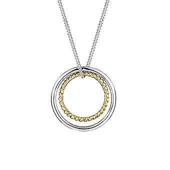 Elli Necklace with Silver Woman's Circle Pendant 925