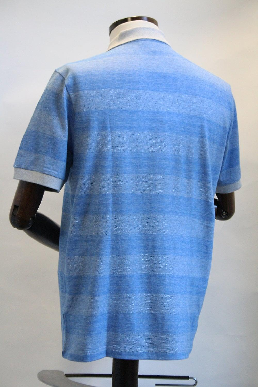 Merc London Monroe Blue Striped Polo Shirt