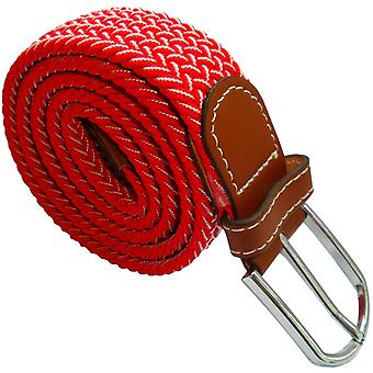 Bassin and Brown Chevron Stripe Elasticated Woven Belt - Red/White