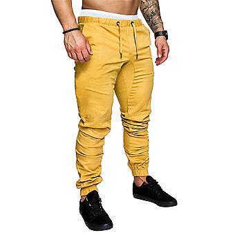Allthemen mannen ' s katoen Solid slim fit verstelbare taille casual broek