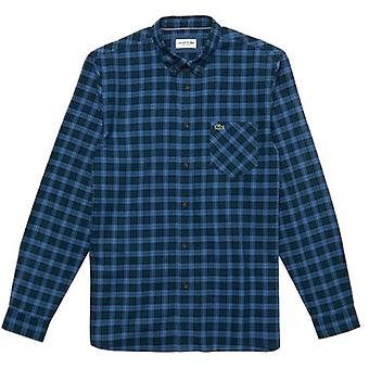 Lacoste Ch0062 check L/s skjorte blå