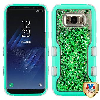 MYBAT Natural Teal Green/Green Meteor Shower TUFF Quicksand Glitter Hybrid Case for Galaxy S8 Plus