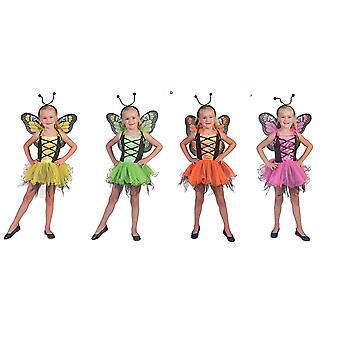 Butterfly Belle barn dräkt fjäril klänning flicka Fairy Fairy Carnival Elf karneval Saga