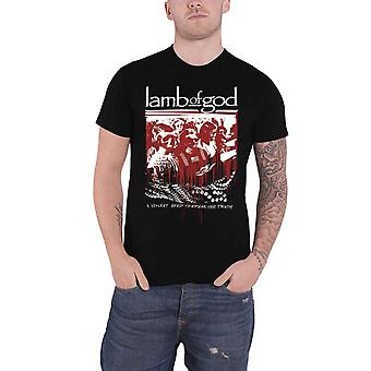 Lamb Of God T Shirt Enough is Enough Band Logo nouveau officiel Mens Black