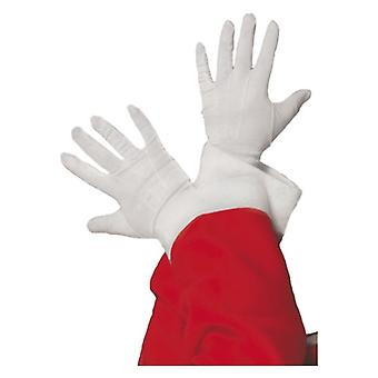 Santa Gloves Christmas Fancy Dress Accessory