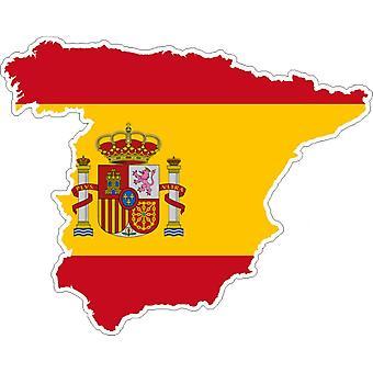 ملصق ملصقا Adhesif الفينيل بطاقة العلم سيارة اسبانيا