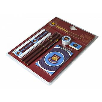 West Ham FC Official Football Starter 7 Piece Stationery Set