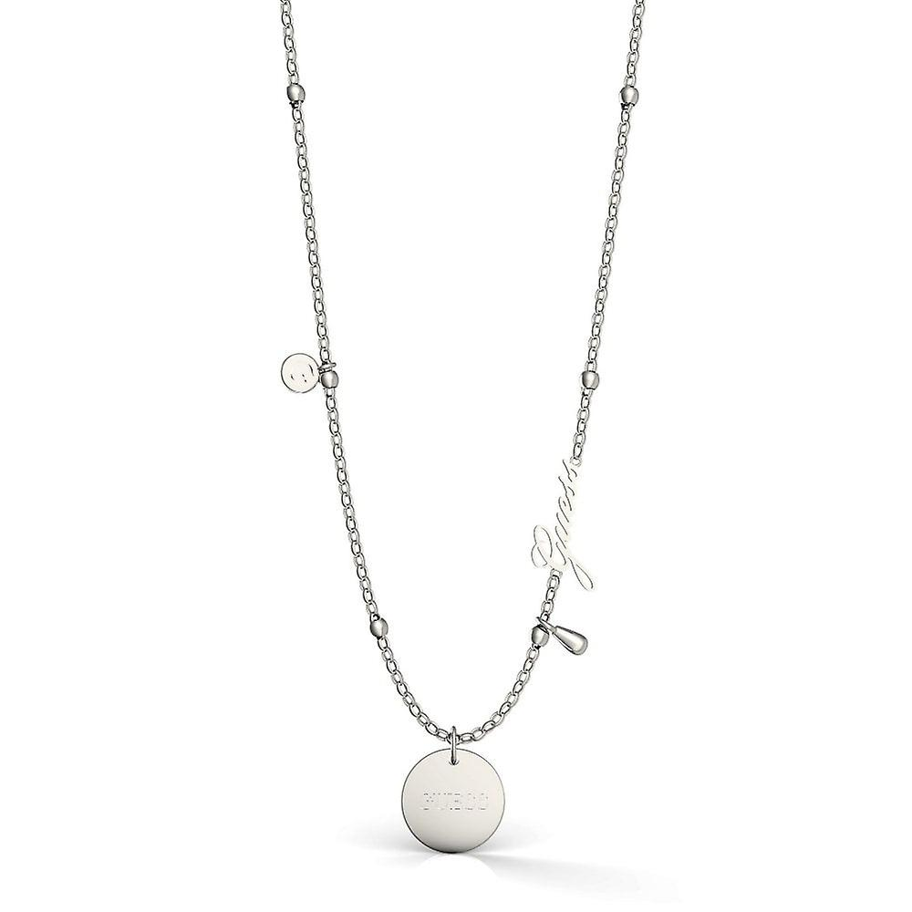 Guess Jewellery 16-18''Greek Peony CharmSilver Necklace UBN29101