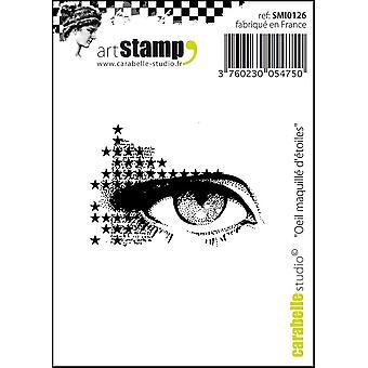 """Carabelle Studio Cling stämpel 2,75 """"X3.75""""-gör upp ögat av stjärnor"""