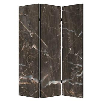 "1"" x 48"" x 72"" Multi Color Wood Canvas Black Marble  Screen"