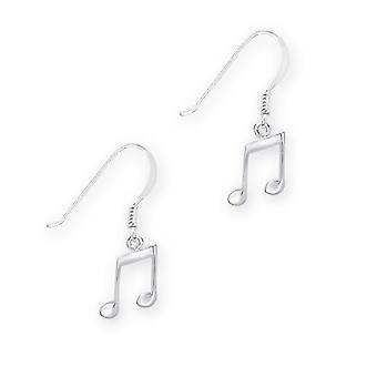 Music Notes Drop Pair Of Earrings