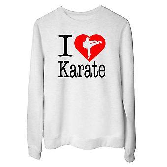 Felpa girocollo donna bianco wtc1676 i love karate