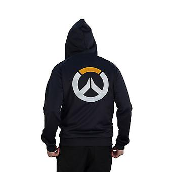 Overwatch Logo Athletic Tech Hooded Zip Dark Male X-Large Blue/Black CHM007OW-XL