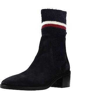 Tommy Hilfiger Booties Fw0fw04496 Color Midnight