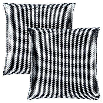 """18"""" x 18"""" Light/Dark Blue, Abstract Dot - Pillow 2pcs"""