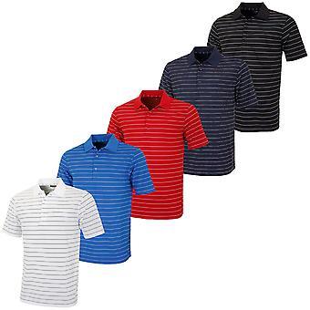 Greg Norman Mens KX49 Micro Pique Fine Stripe Golf Polo Shirt