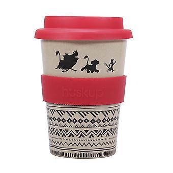 Disney King of The Lions Travel Mug No Worries natural/red, printed, mug 100% rice sleeves, capacity approx. 400 ml.