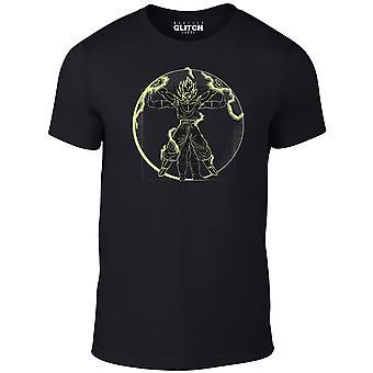 Super vitruviyan t-shirt-Dragon ball z inspirerad design