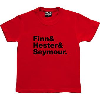 Crowded House Line-Up Red Kids' T-Shirt