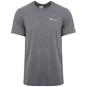 Champion Champion Reverse Weave Dark Grey Logo T-Shirt