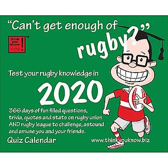 Otter House Cant Get Enough Rugby 2020 Desk Calendar