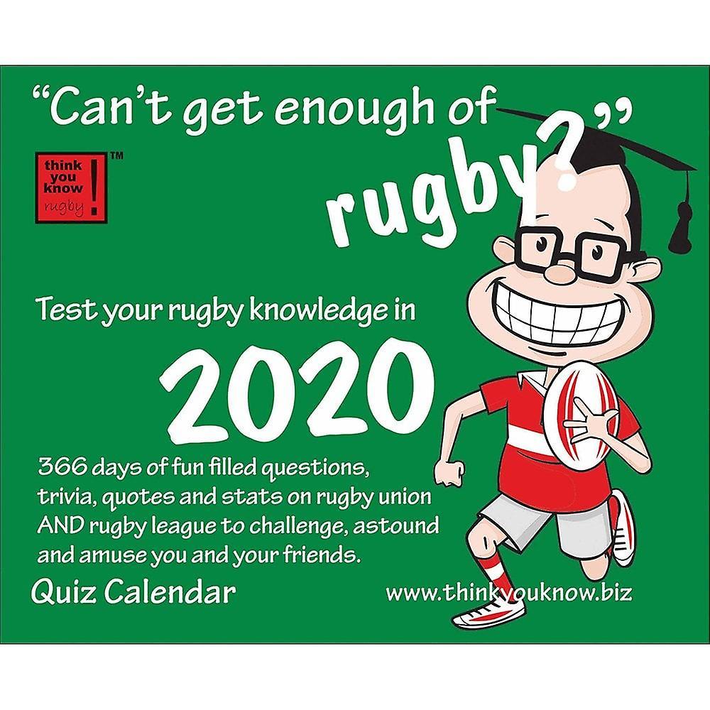 Otter House Cant Get Enough Rugby 2020 Desk Calendar