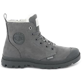 Palladium Pampa Hi Zip WL W 95982-055-M Women's Boots Grey Sneakers Sports Shoes