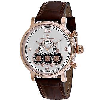 Christian Van Sant Men's Reloj de marcado de plata - CV0715