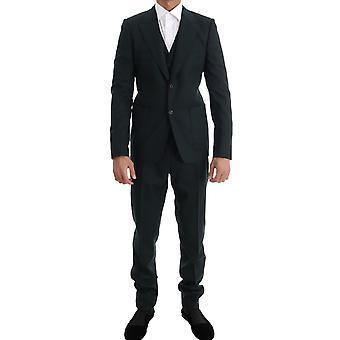 Dolce & Gabbana Groene Wol Stretch Slim Two Button Pak