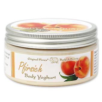 Florex Body Yoghurt - Pfirsich - erfrischend leichter Vitamin Body Jogurt Seidenweiche Haut  200 ml